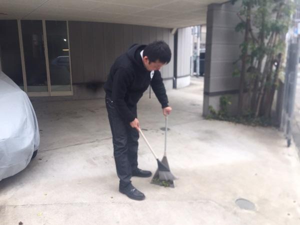 掃除の姿②