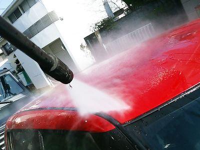 お車の水洗い