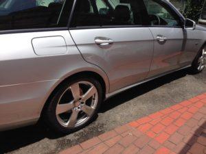 ベンツの洗車 タイヤホイール